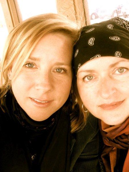 my sister Theresa and I, fall 2008