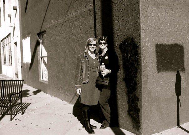 Theresa and I on Santa Fe at Dia De Los Muertos Exhibit (Graciela took the photo!)