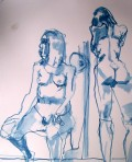 17 Feb 2011, nude sketches 1, reed p&I, hot pressed paper, 11x14""