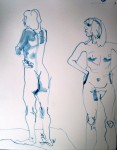 "17 Feb 2011, nude sketches2, reed p&I, hot pressed paper, 11x14""_1"