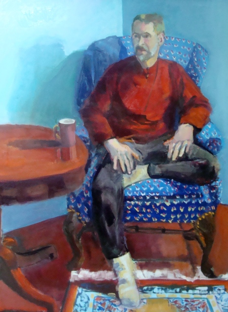 John H. in the blue chair